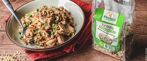 Biologische en veganistische Kantonese rijst