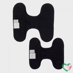 Imsevimse Inlegkruisjes wasbaar zonder sluiting zwart