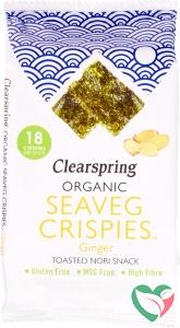 Clearspring Seaveg crispies ginger bio