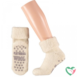 Apollo Slofsok anti slip unisex grijs/beige 43-46