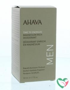 Ahava Men deodorant roll on magnesium rich
