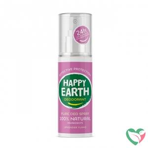 Happy Earth Pure deodorant spray lavender ylang