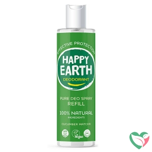Happy Earth Pure deodorant spray cucumber matcha refill