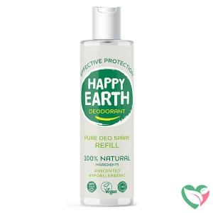 Happy Earth Pure deodorant spray unscented refill