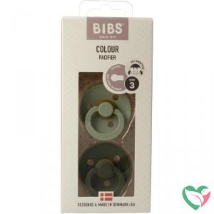 Bibs Fopspeen sage/hunger green maat 3