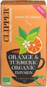 Clipper Orange & turmeric infusion bio