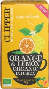 Clipper Orange & lemon infusion bio