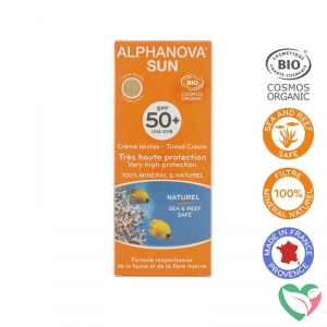 Alphanova Sun Sun vegan gekleurde dagcreme SPF50 medium tint bio