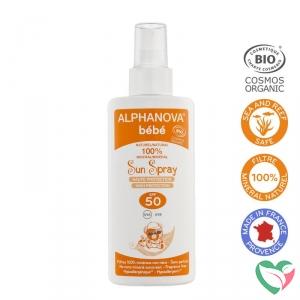 Sun zonnebrand spray SPF50 baby zonder parfum bio - in Zonbescherming