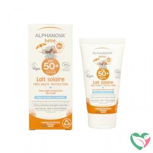 Sun zonnebrand milk baby SPF50 zonder parfum bio - in Zonbescherming