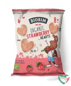 Biobim Strawberry hearts 8+ maanden bio