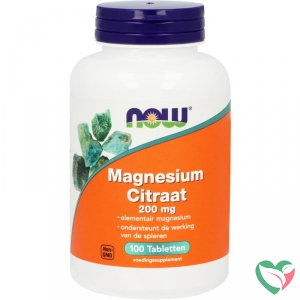 NOW Magnesium citraat 200 mg