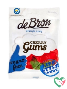 De Bron Kersen gums/cherry gums suikervrij