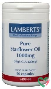 Lamberts Borageolie 1000 mg (High GLA 220 mg starflower)