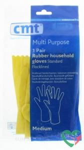 CMT Huishoudhandschoen rubber geel M
