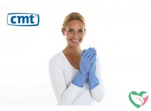 CMT Huishoudhandschoen rubber blauw S