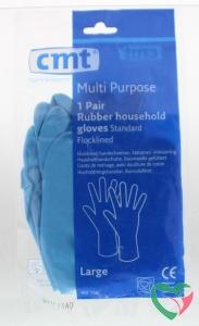 CMT Huishoudhandschoen rubber blauw L