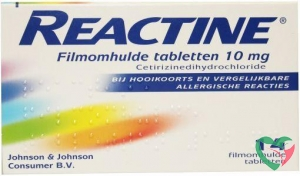 Reactine Anti histaminicum 10 mg