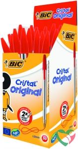 BIC Cristal pennen rood doos
