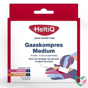 Heltiq Gaaskompres 8.5 x 5 cm zestientje