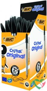 BIC Cristal pennen zwart doos