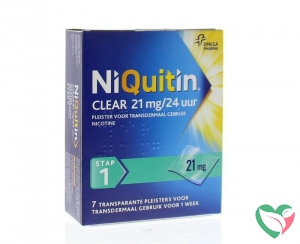 Niquitin Stap clear 21 mg/24 uur