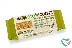 Crich Crackers sesam rozemarijn bio