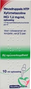 Healthypharm Neusdruppels HTP Xylometazoline HCl 1 mg/ml