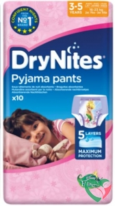 Huggies Drynites girl 3-5 jaar - in Luiers
