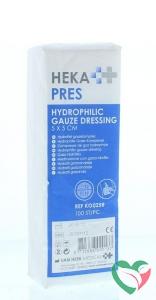 Hekapres Hydrofiel gaaskompres 5x5 niet steriel