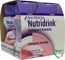 Nutridrink Compact proteine aardbei 125 ml