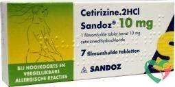 Sandoz Cetirizine DICHL 10 mg UAD