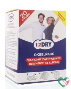 1-2DRY Okselpads large wit