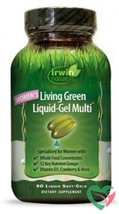 Irwin Naturals Living green liquid gel multi for women