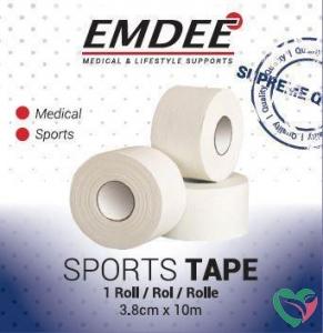 Emdee Sport tape 3.8 cm x 10 m wit