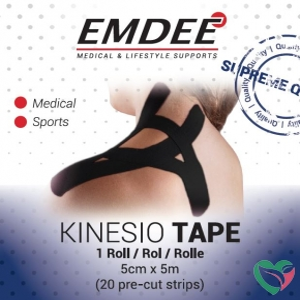 Emdee Kinesio tape zwart pre cut
