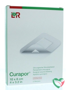 Curapor Wondpleister 10 x 8 cm steriel