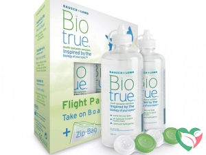Bausch & Lomb Biotrue MPS flight pack