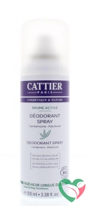 Cattier Deodorant spray cardamom patchouli