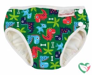 Imsevimse Wasbare zwemluier groen dino's newborn 4-6 kg - in Luiers