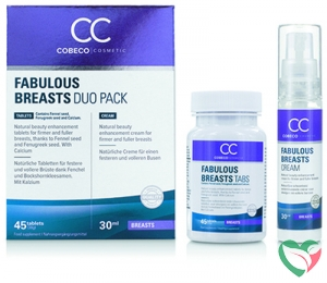 Cobeco Cosmetic Fabulous breasts 45 tabletten & 30 ml
