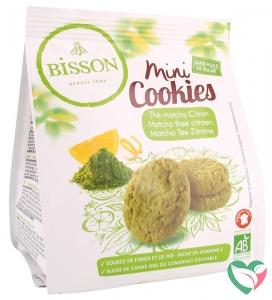 Bisson Mini cookies matcha thee citroen bio
