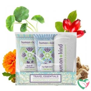 Human+Kind Gezichtsverzorging reisverpakking vegan