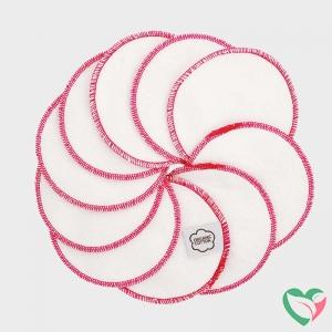 Imsevimse Wattenschijfjes wasbaar wit/roze