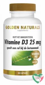 Golden Naturals Vitamine D3 25 mcg