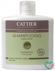 Cattier Shampoo vet haar groene klei
