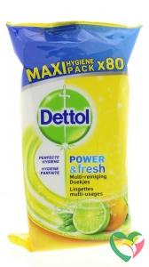 Dettol Power & fresh wipes citrus
