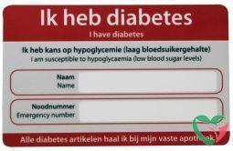 Zorgtotaal Diabetes noodkaart