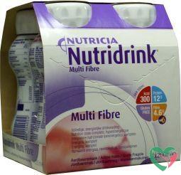 Nutridrink Multi fibre aardbei 200 ml