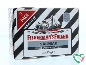 Fishermansfriend Salmiak suikervrij 3 pakjes